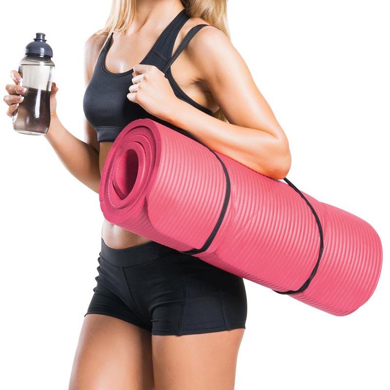 Tapis pour Pilates, Forme Physique et Entraînement, avec Sangle de Transport