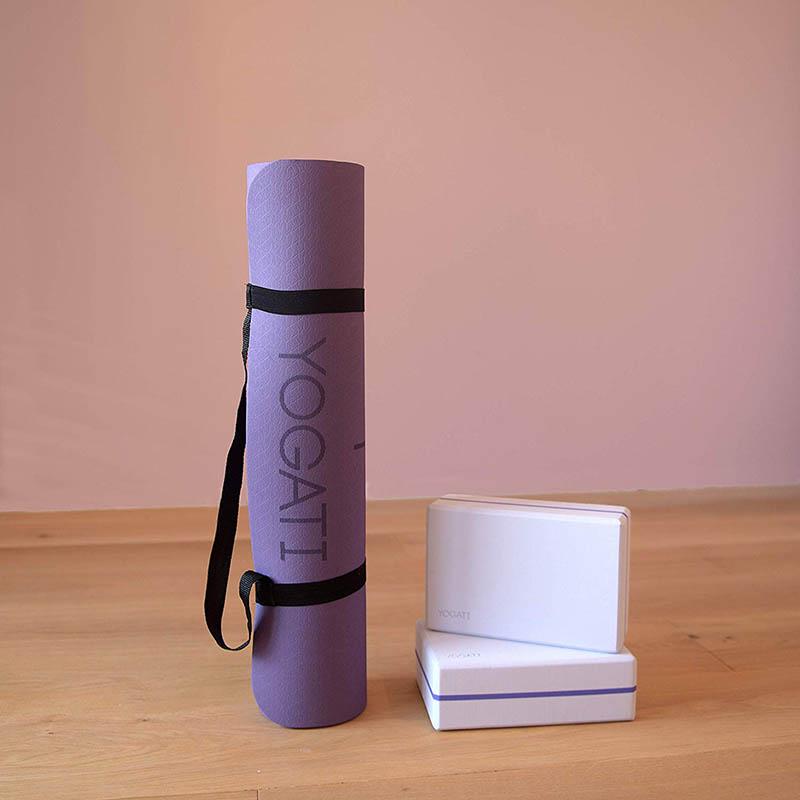 Tapis de Yoga Antidérapant, Epais, Ecologique et Non Toxique
