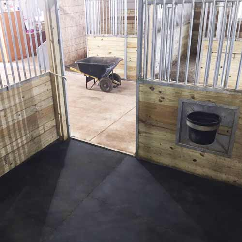 tapis de sol pour box en caoutchouc