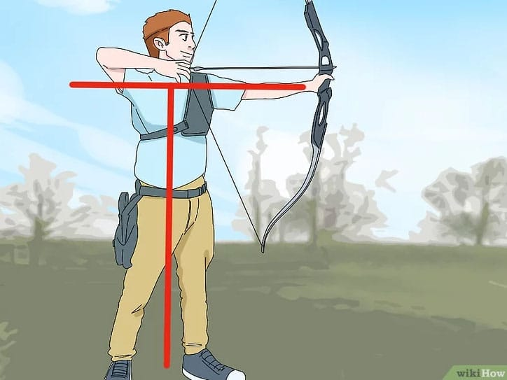 bonne posture de tir pour le tir à l'arc