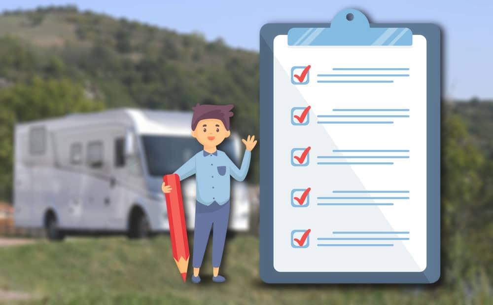 Checklist avant tout voyage en Camping-car