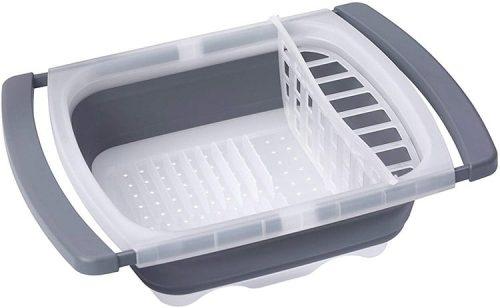 égouttoir à vaisselle souple et pliable pour camping